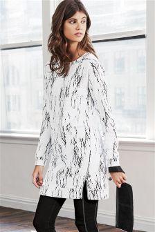 Monochrome Jacquard Sweat Dress