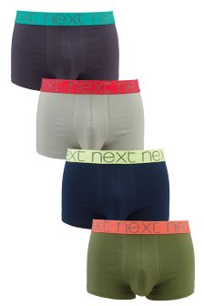 Neutral Colour Bright Waistband Hipsters Four Pack