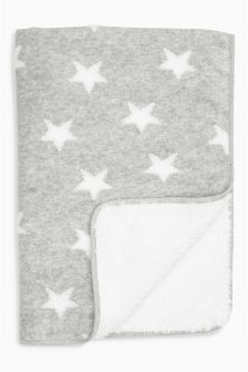 Grey/White Star Blanket (Newborn)