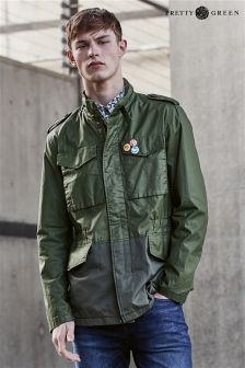 Pretty Green Khaki Jetson Field Jacket