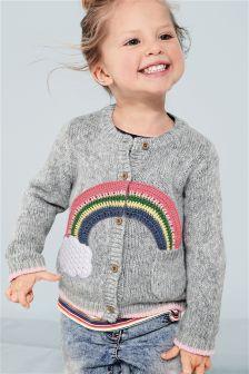 Grey Rainbow Cardigan (3mths-6yrs)