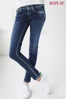Replay® Dark Wash Luz Super Skinny Mid Rise Jean