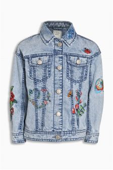 Denim Embroidered Western Jacket (3-16yrs)