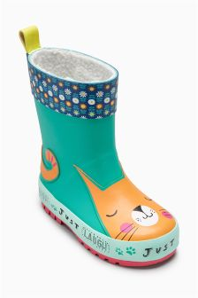 Cat Wellies (Younger Girls)