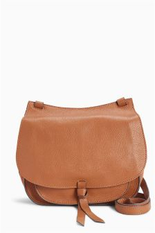 Tan Leather Saddle Bag