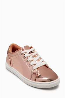 Gold Mirror Trainers (Older Girls)