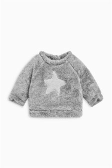 Grey Fleece Jumper (0mths-2yrs)
