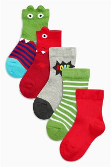 Multi Character Socks Five Pack (Younger Boys)