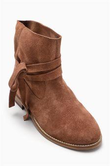Tie Wrap Boots (Older Girls)