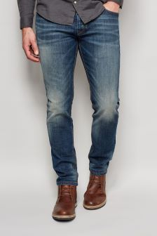Mid Blue Jeans With Stretch