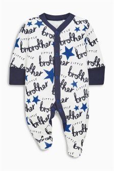 Blue Little Brother Sleepsuit (0-18mths)