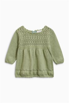 Green Knit Dress (0mths-2yrs)
