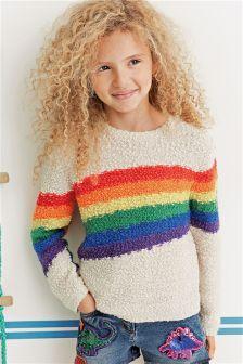Cream Rainbow Sweater (3-16yrs)