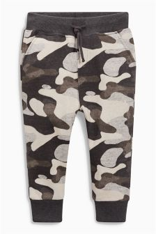 Black/Grey Skinny Camo Joggers (3mths-6yrs)