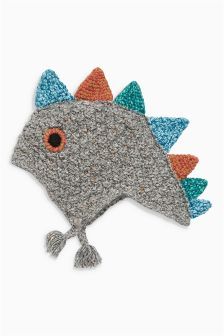 Grey Dino Inca Hat (Younger Boys)