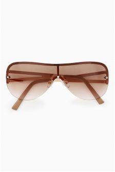 Rose Gold Visor Style Sunglasses