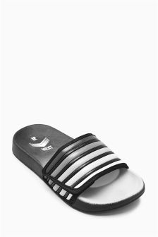Black Ombre Pool Sliders (Older Boys)