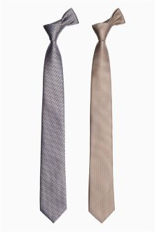 Stone Patterned Ties Two Pack