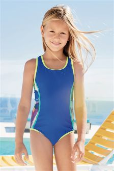 Cobalt Colourblock Swimsuit (3-16yrs)