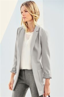 Grey Soft Pocket Jacket