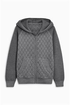 Grey Quilted Zip Through (3-16yrs)