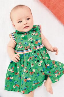 Green Floral Prom Dress (0mths-2yrs)