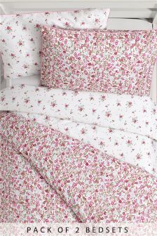2 Pack Vintage Ditsy Bed Set