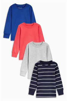 Multi Long Sleeve Tops Four Pack (3-16yrs)