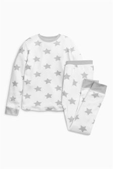 Grey/White Thermal Star Set (2-16yrs)