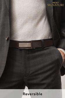 Black/Brown Signature Reversible Plaque Belt