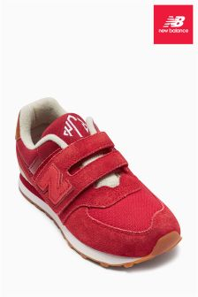 New Balance Red 574 Velcro Trainer