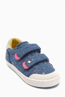 Denim Star Low Tops (Younger Girls)