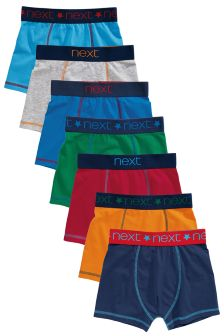 Multi Coloured Trunks Seven Pack (2-16yrs)