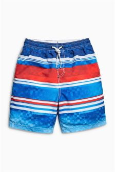 Red/Blue Stripe Swim Shorts (3-16yrs)