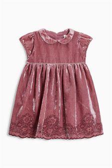 Pink Velvet Dress (3mths-6yrs)