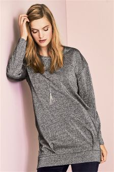 Grey Metallic Sweater