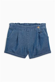 Denim Button Shorts (3mths-6yrs)