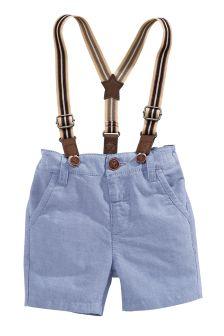 Blue Braced Oxford Shorts (3mths-6yrs)