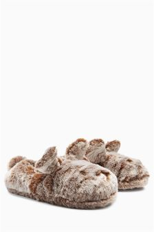 Brown Bunny Character Slippers