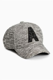 Charcoal Embellished Cap (Older Girls)