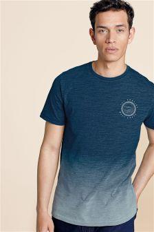 Indigo Dip Dye Graphic T-Shirt