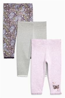 Lilac Butterfly Leggings Three Pack (3mths-6yrs)