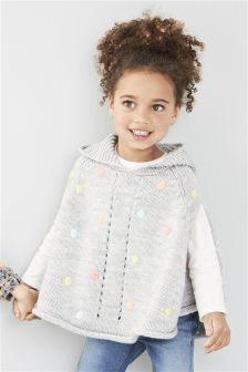 Grey Spot Poncho (0-6yrs)