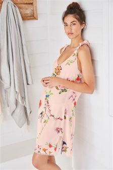 Pink Floral Ruffle Slip
