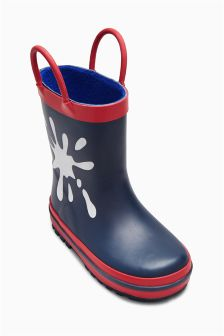Navy Colour Change Wellies (Younger Boys)