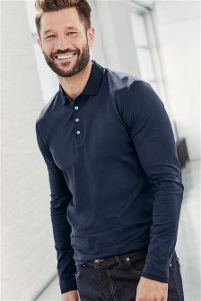Long Sleeve Premium Poloshirt