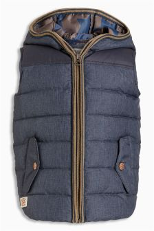 Chambray Hooded Gilet (3mths-6yrs)