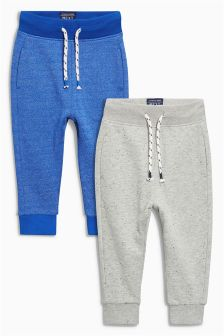 Blue/Grey Textured Joggers Two Pack (3mths-6yrs)