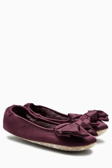 Berry Bow Ballerina Slippers