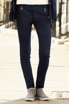 Zip Skinny Trousers